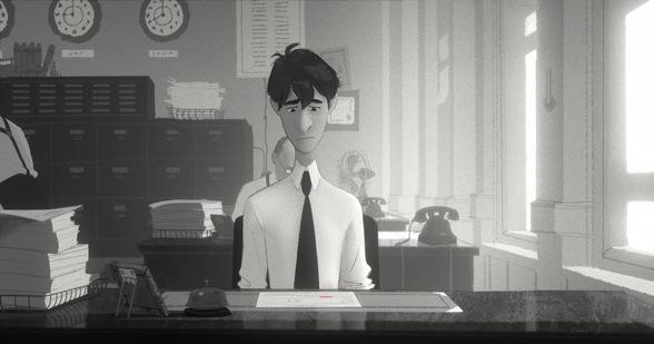 Instantantea del cortometraje de Pixar Paperma