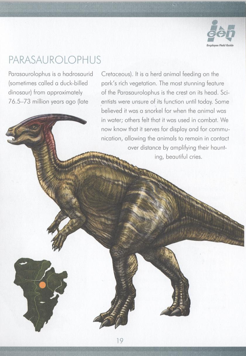 Jurassic Park Enciclopedia: Parasaurolophus