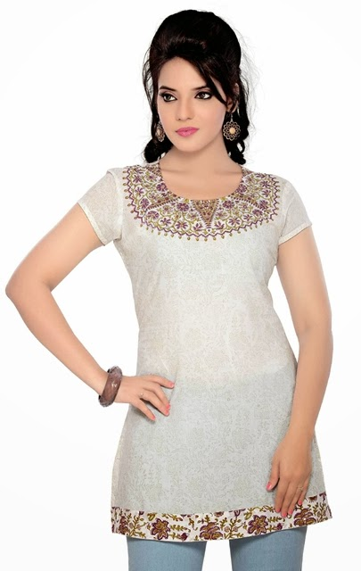 Latest kurtis collection fashion of embroidered