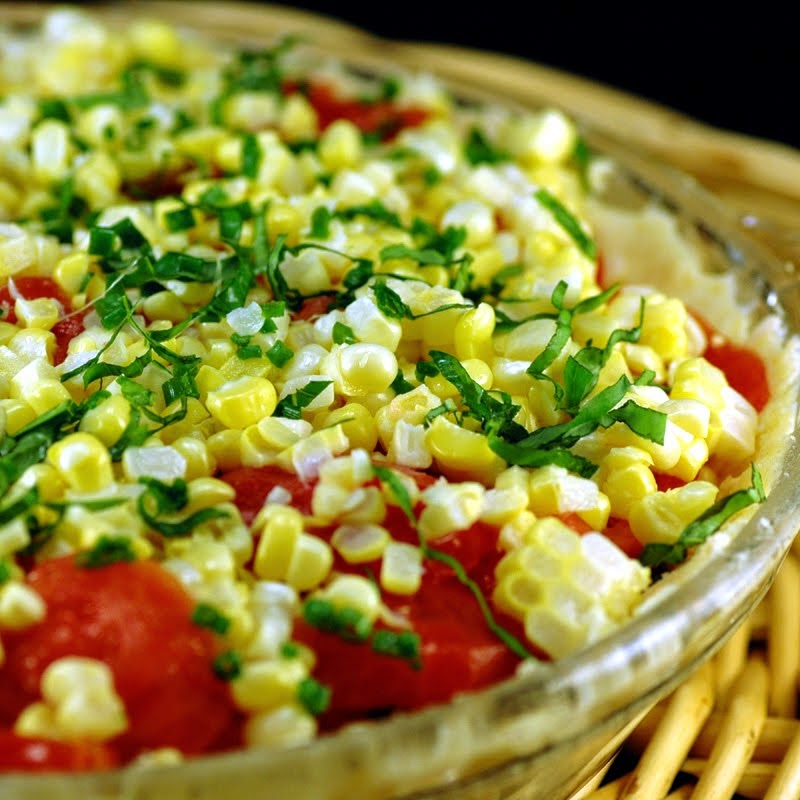 Summer Tomato and Corn Pie