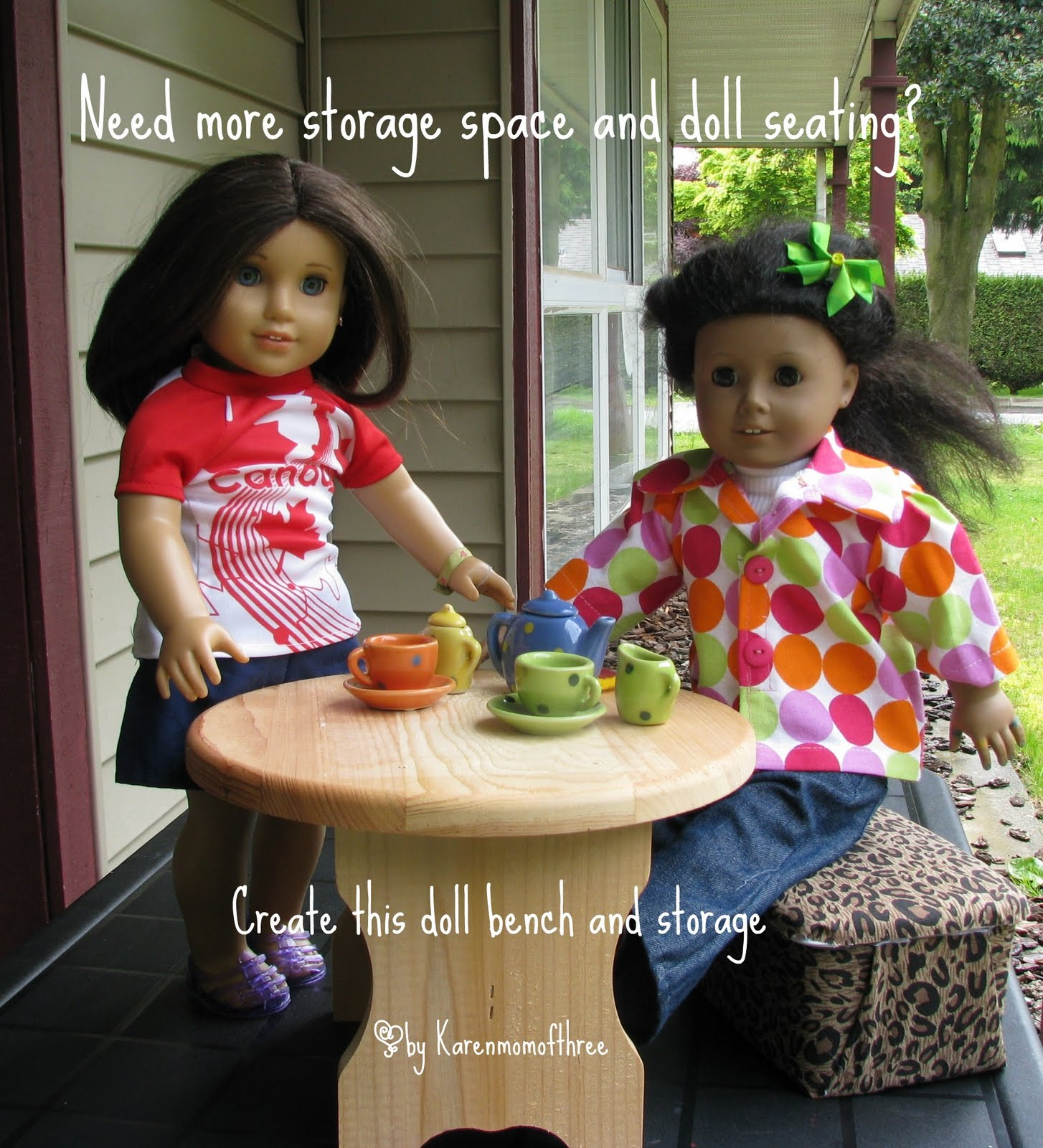 Need More Doll Storage And Seating? Make This Out Of A Diaper Wipe Container !