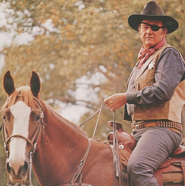 john wayne and ... John Wayne On Horseback