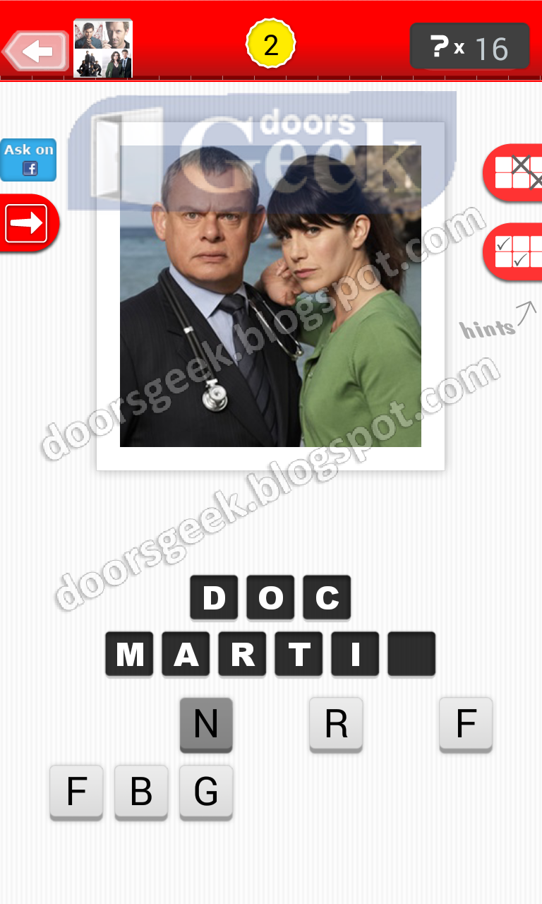 answer doc martin guess the tv show level 12 2 answer cheats solution