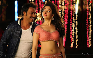 Hot Tamannaah and Ajay in Dhoka Dhoka Song Wallpaper