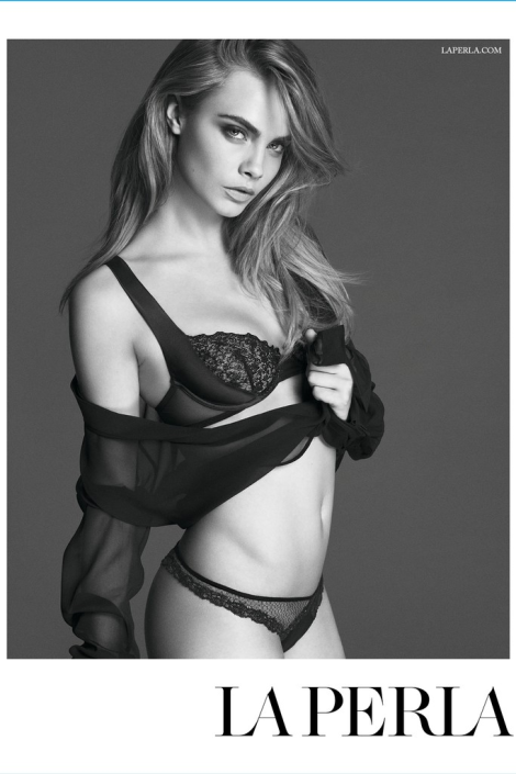 Cara Delevingne by Mert & Marcus for La Perla