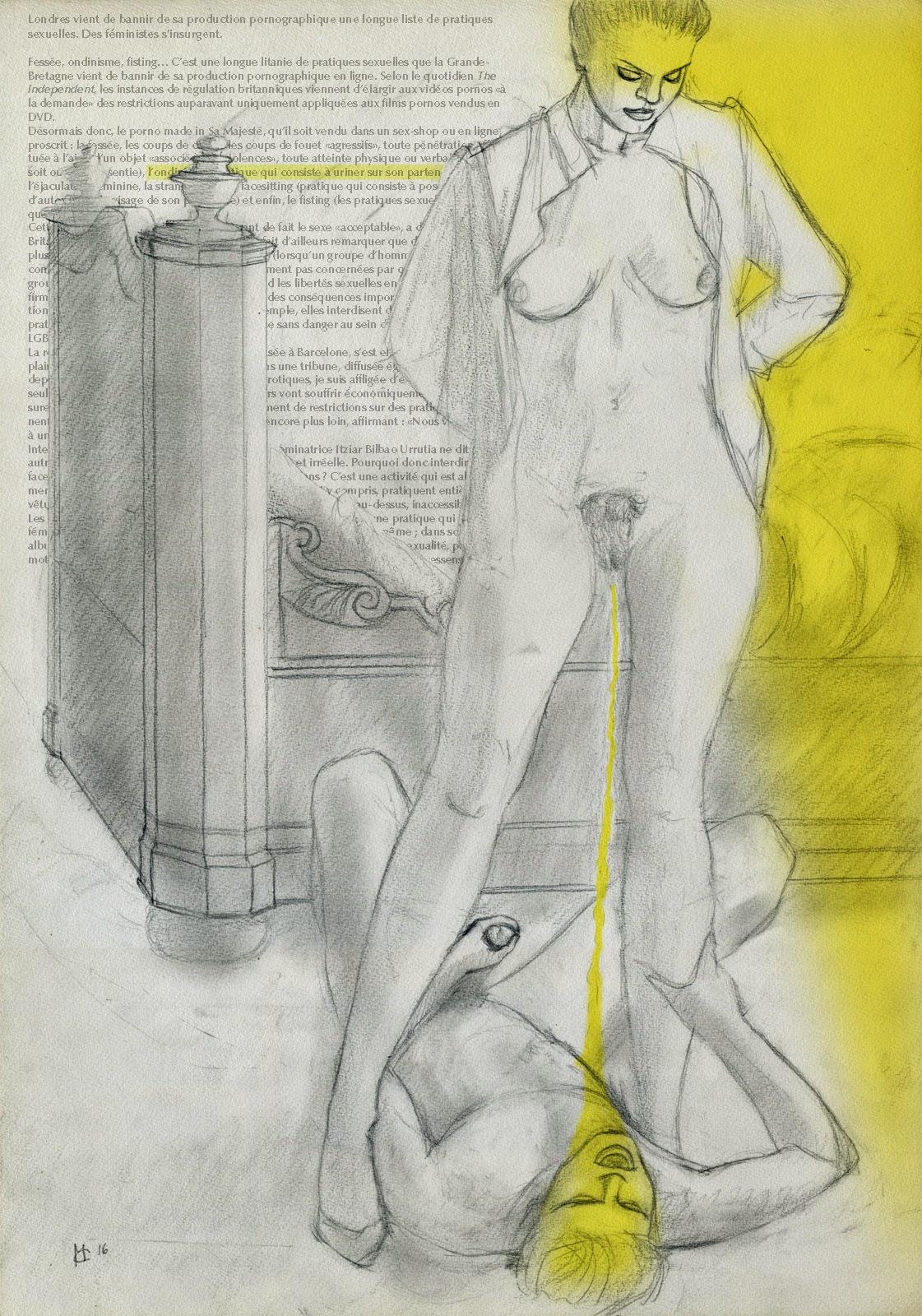 dessin pornographique, pisse, ondinisme, pee