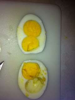 2 Double Yolks in 1 day- Hard Boiled!