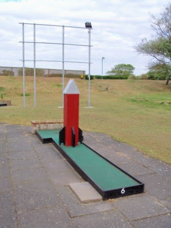 Hole 6 of the South Parade Crazy Golf course in Skegness, Lincolnshire