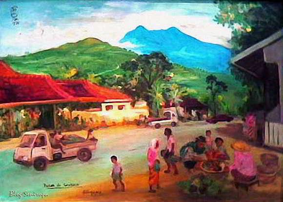 Lukisan S. Sudjojono Penjual Buah