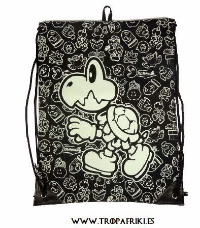 Mochila friki Cuerdas Mario Bross de Nintendo bolsa cuerdas tortuga
