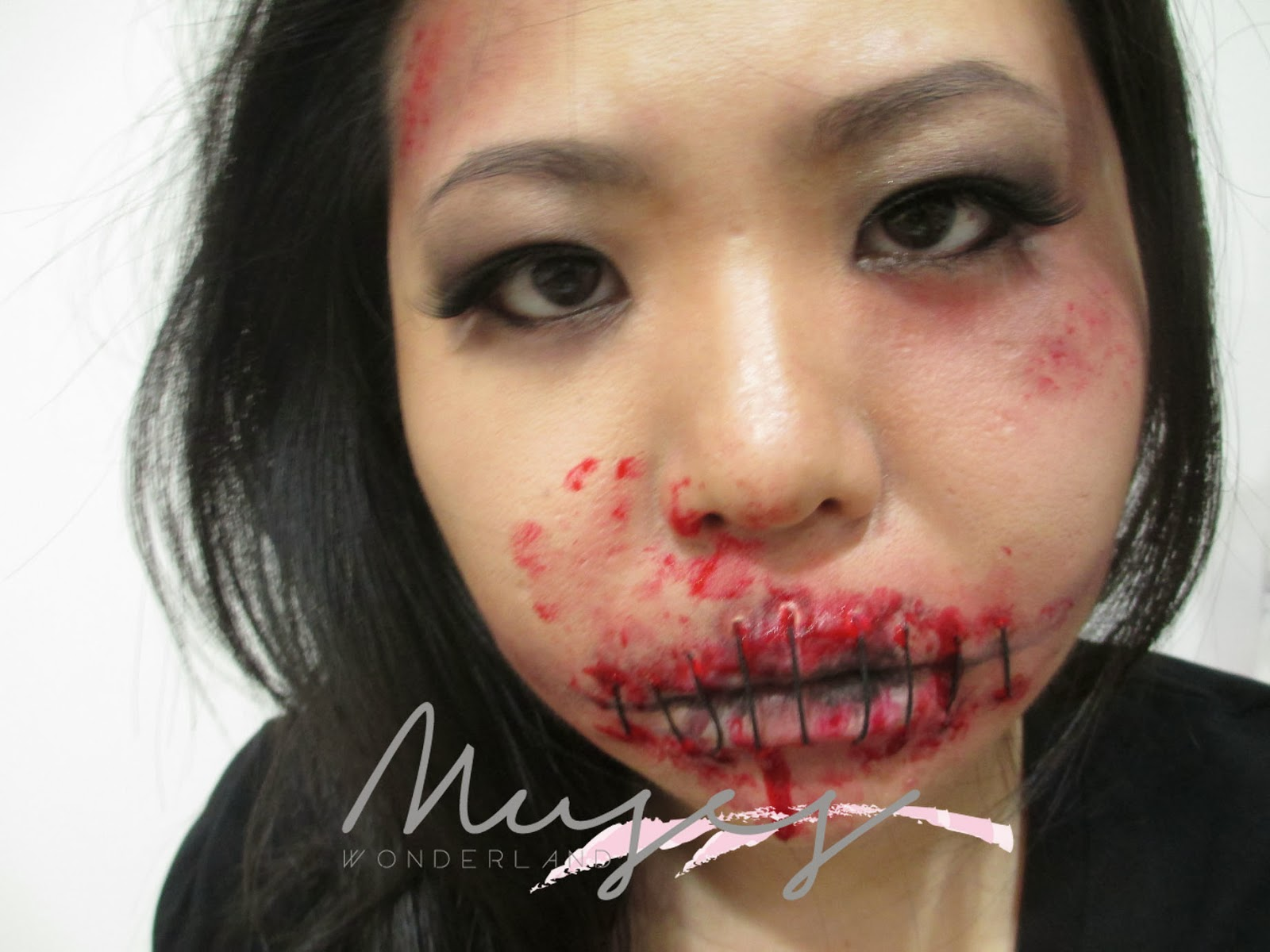 MUSES HALLOWEEN SERIES STITCHED LIPS | Theresia Feegy