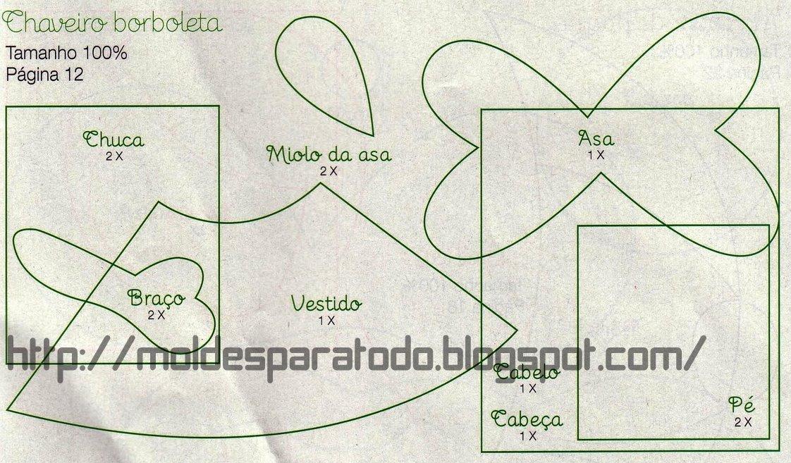 Llavero Fofucha Mariposa -