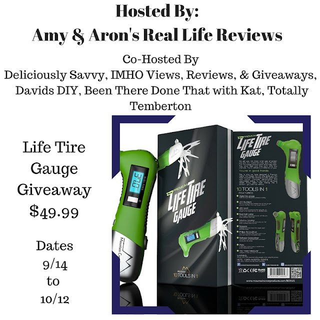 Enter the Life Tire Gauge Giveaway. Ends 10/12