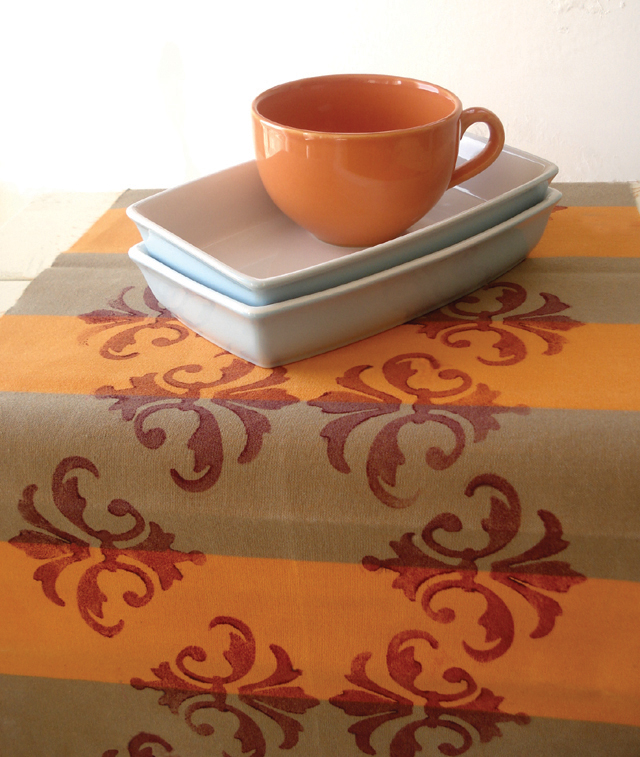 Or Why Not Cut Your Beautiful Pattern Out And Dress Up A Plain White  Tablecloth .