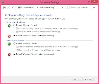 Cara Non-Aktifkan Windows 8 Firewall
