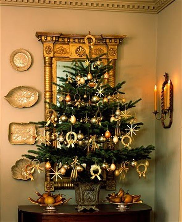 Christmas tree decorating ideas pictures and x mas - Mini sapin de noel decore ...