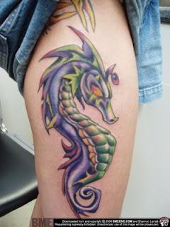 tatto sea horse tattoo designs. Black Bedroom Furniture Sets. Home Design Ideas