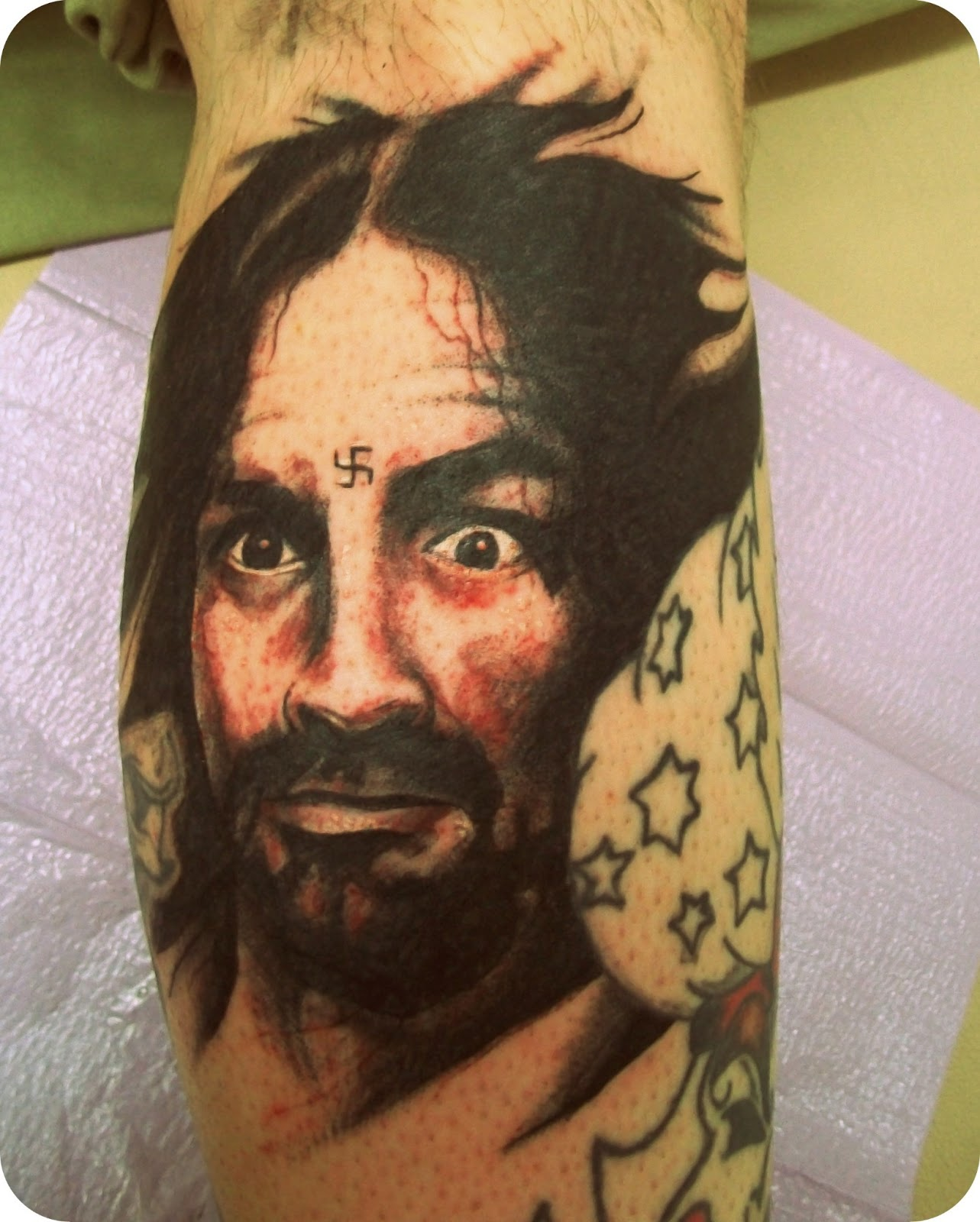 Tattoos by zane watrous march 2013 for Charles manson tattoos