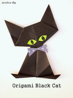 cara membuat origami hewan kucing yang cantik