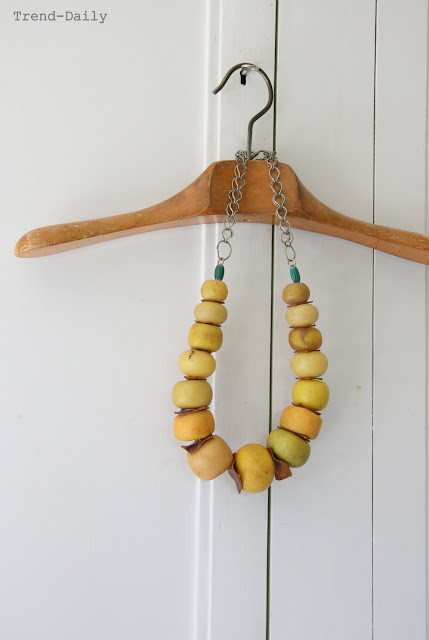 styling, By Fryd, Holly Becker, Decor8, blogging your way, white, natural, mustard yellow, necklace, vintage hanger
