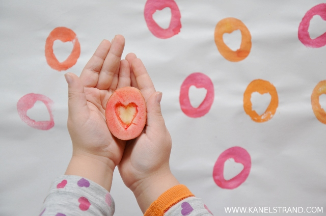 handmade gift paper project by kanelstrand, simple heart pattern