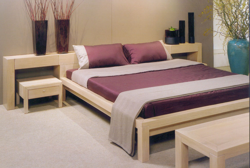 Simple Wooden Double Bed : Simple-Wooden-Double-Bed-In-Contemporary-Bedroom-Interior-Design.jpg