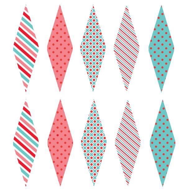 Imprimibles: Banderines para cupcakes y canapés.   Fuxia Atelier