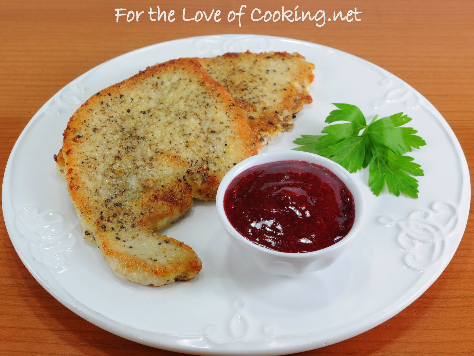 Turkey Cutlets with Cranberry Coulis | For the Love of Cooking