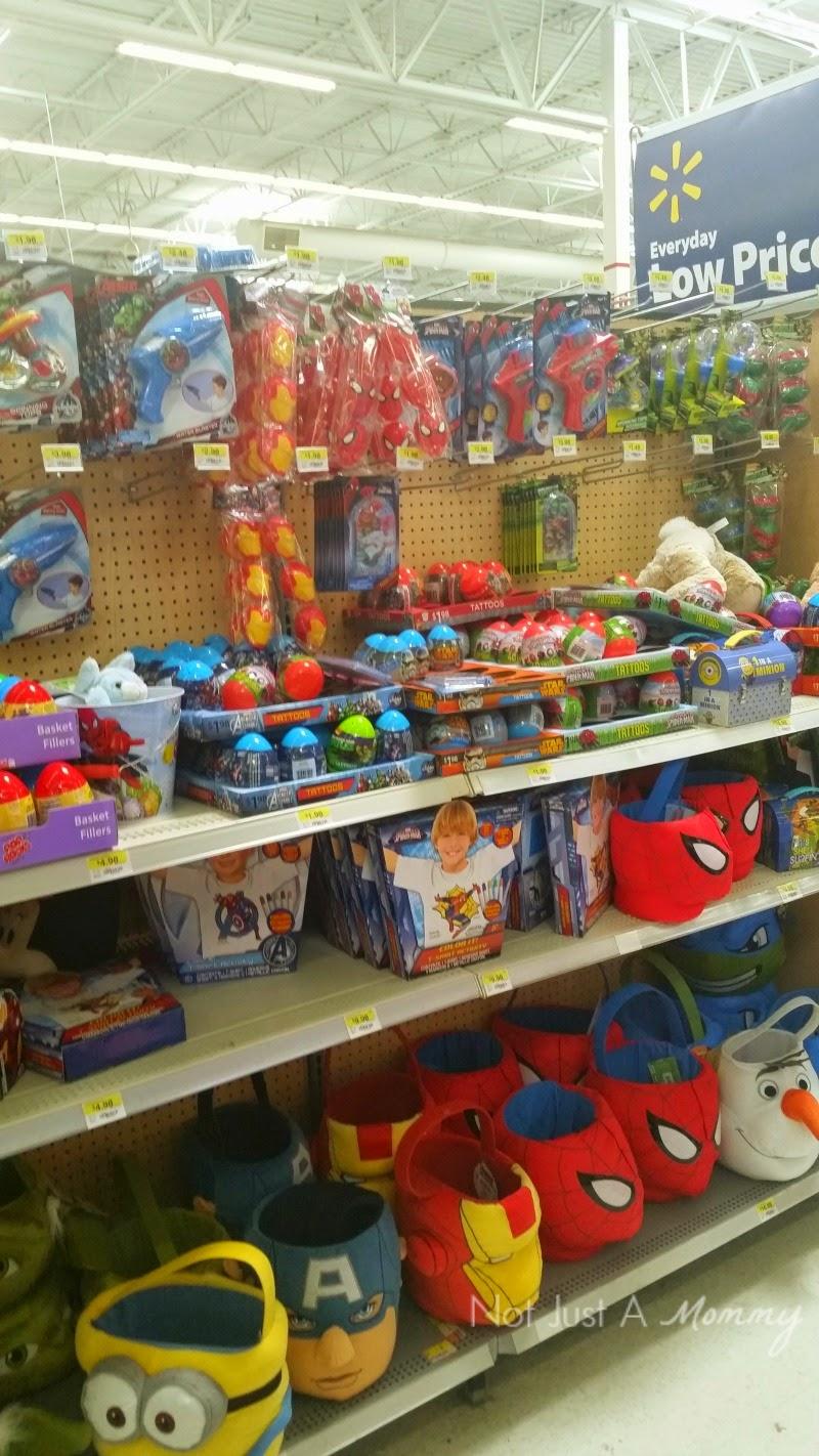 Disney Marvel Easter Egg Hunt Where to buy at Wal-Mart aisle