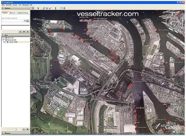 AIS Vessel Data live in Google Earth