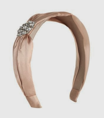 New Look Sateen Pink Hair Band