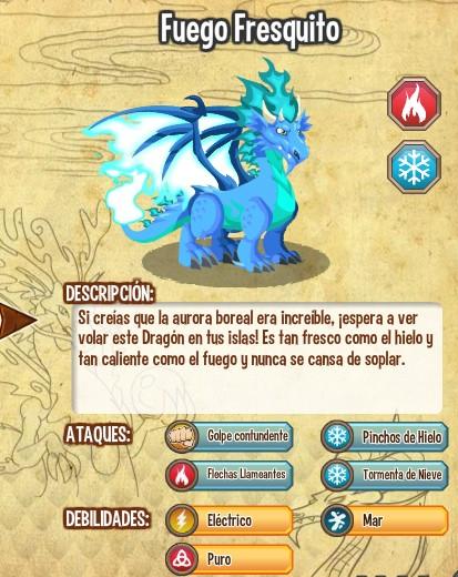 todas las estadisticas del dragon fuego fresquito