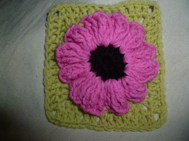 CROCHET: Week 5 POPCORN FLOWER GRANNY SQUARE The 8th Gem