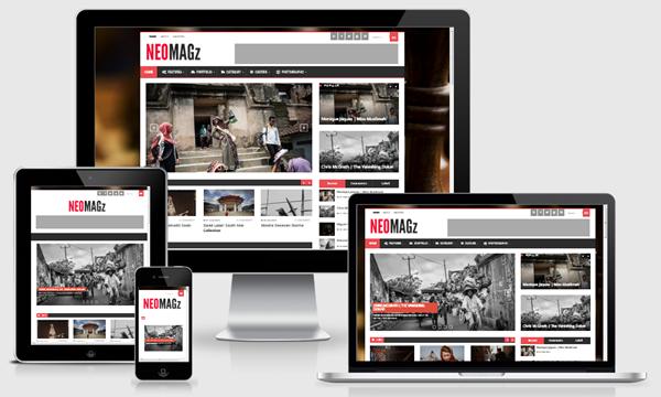 NEOMAGz Responsive Magazine Blogger Template