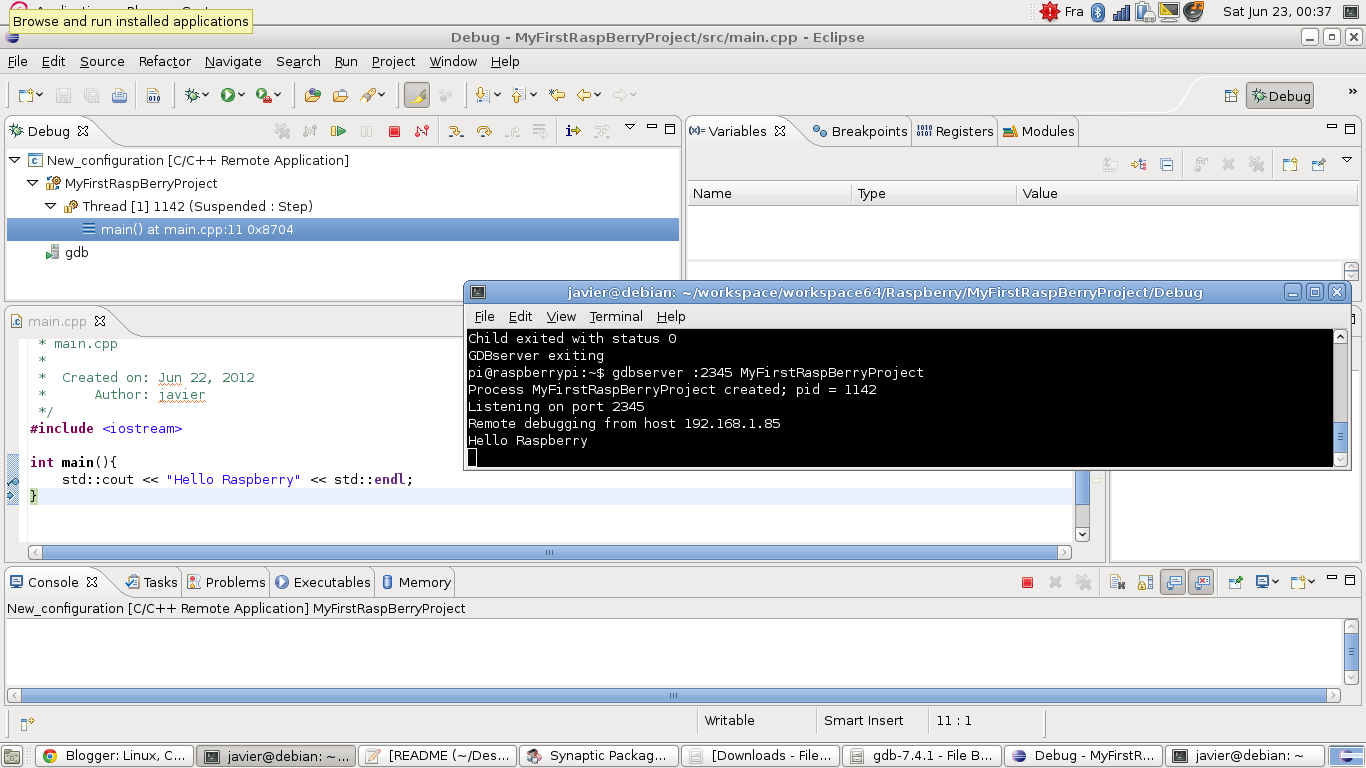Linux C And Other Tortures Cross Compiling Debugging Wiringpi Deb Package Fig 15 Our Project
