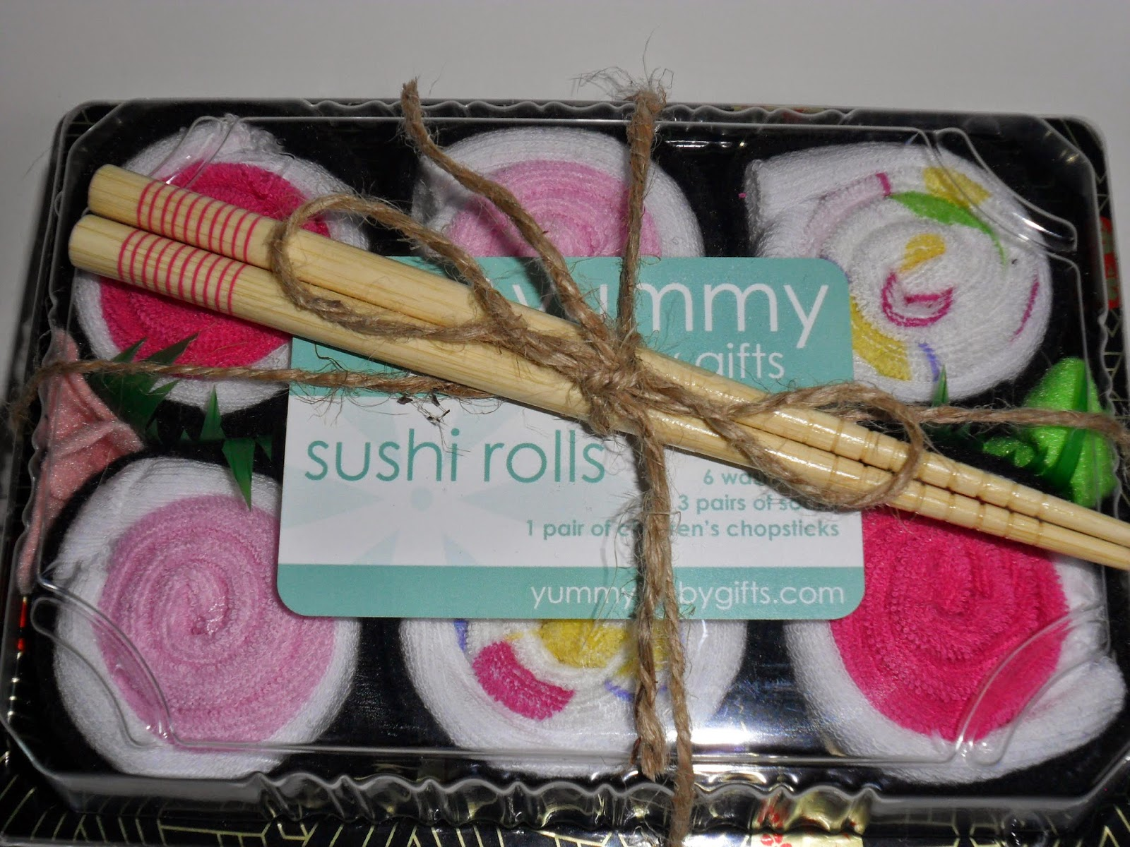 Sushi Rolls from Yummy Gifts.  Review  (Blu me away or Pink of me Event)