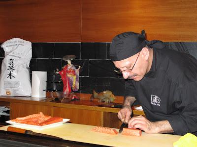 David Juárez en el curso del restaurante Tsunami