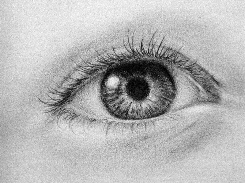 human eyes drawing