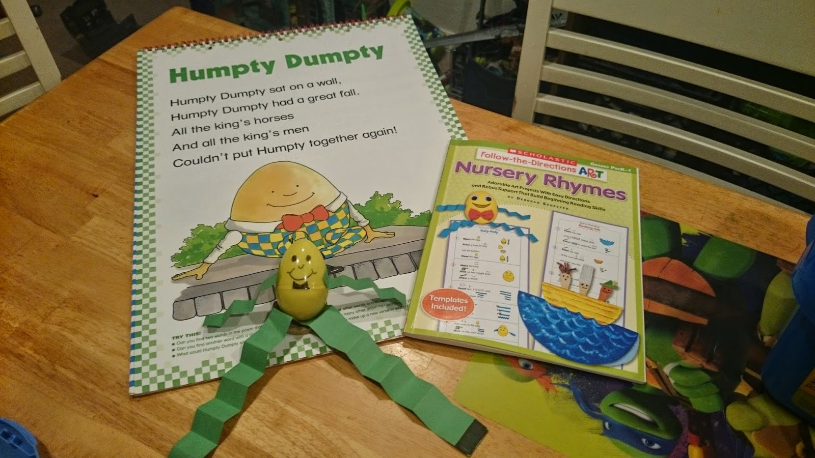 1st Week Back to School (Humpty Dumpty)