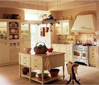 una cocina rústica