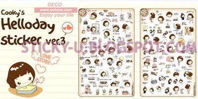 003: Cooky's Helloday Sticker