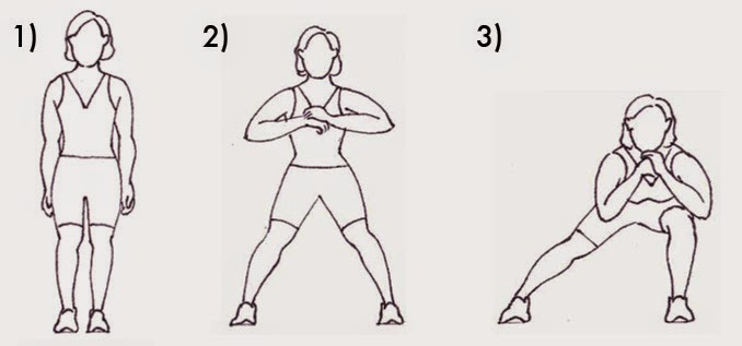 side lunges to get rid of love handles