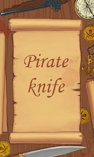 Screenshots of the Pirate knife for Android tablet, phone.