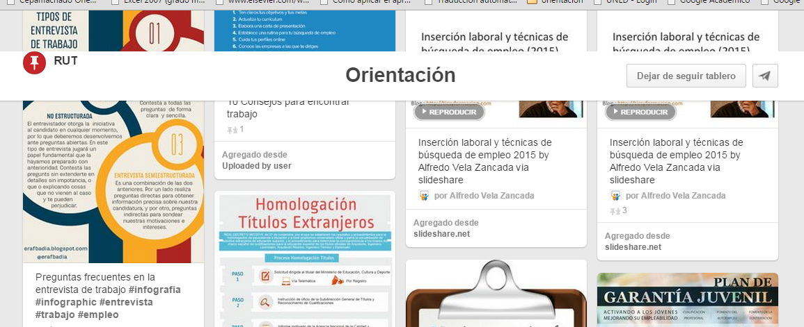 "Página de orientacón ""Pinterest"""