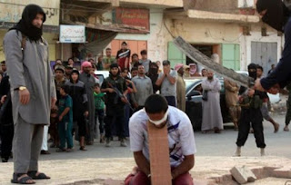 "Sentenced to death by beheading for the crime of ""insulting Allah"""