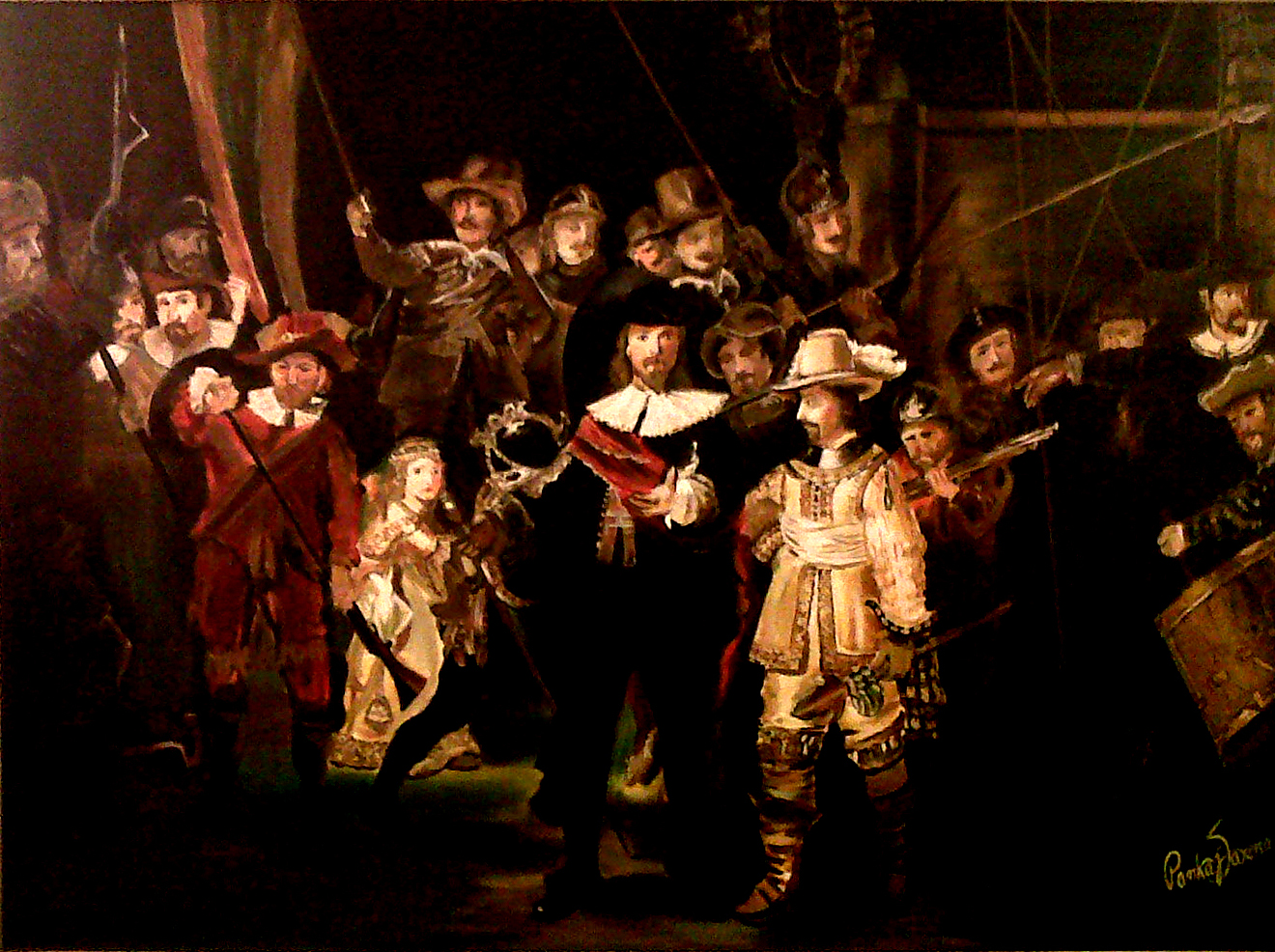 an analysis of rembrandt van rijns painting the night watch The book of the dead and that it was a good idea to paint his most ambitious painting so, asked to watch the sheep.
