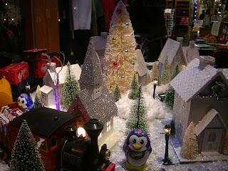 Christmas train Freeport Maine