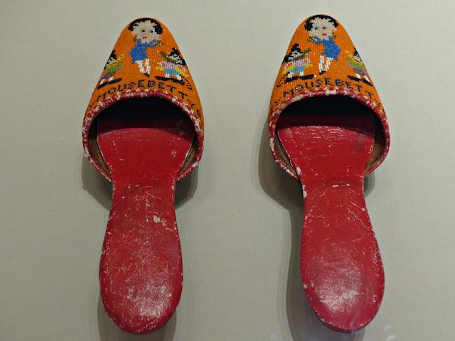 Straits Settlements beaded slippers, 1930s