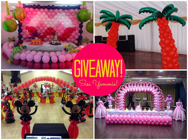 Giveaway balloon decorations training lag abj for Balloon decoration courses dvd