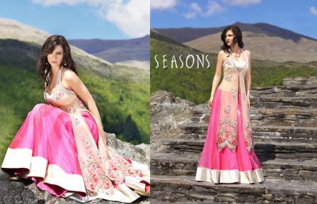 Season-Saree-Style-Lehenga